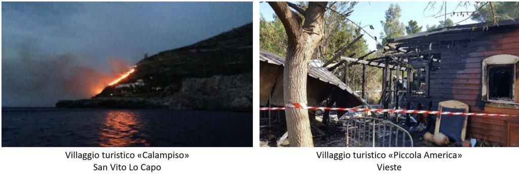 Normativa antincendio villaggi turistici ed eventi tragici: incendio al villaggio turistico di Calampiso e incendio al villaggio turistico Piccola America