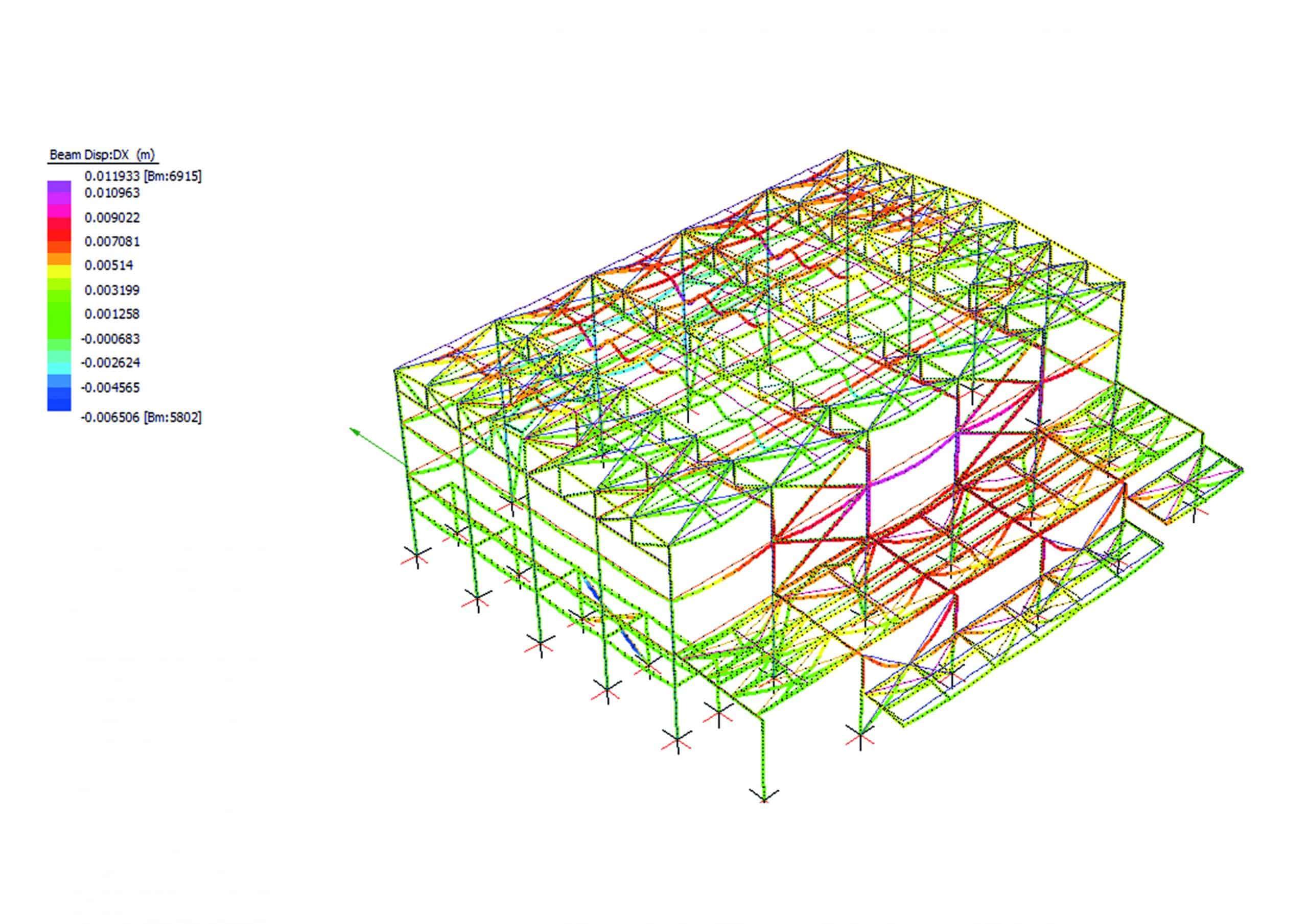 verifica strutturale sotto carico di incendio con metodo analitico di una struttura in acciaio